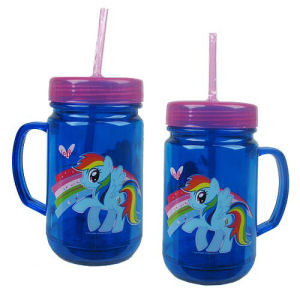 My Little Pony Friendship is Magic Rainbow Dash 24 Ounce Plastic Mason Jar