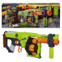 Nerf Zombie Strike Doominator Blaster. Each of the four rotating barels hold 6 darts each for a total of 24 shots without reloading. Includes 4 6 dart drums and 24 Zombie Strike Darts.