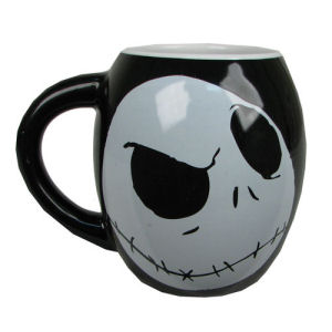 The Nightmare Before Christmas Jack Skellington 18 Ounce Ceramic Oval Mug
