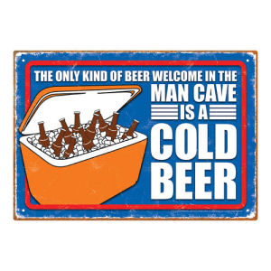 Man Cave Cold Beer Tin Sign