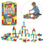100 Wood Blocks Set. Bright non-toxic colors. Ages 3 and up.