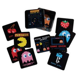 Pac-Man Coaster Set with Tin Storage Box 10-Pack