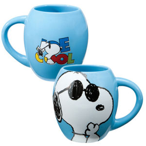 Peanuts Joe Cool 18 Ounce Ceramic Oval Mug