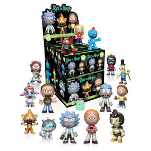 Rick and Morty Series 1 Mystery Minis Master Carton. These vinyl mini-figures measure approximately 2.5 inches tall. Naster carton contains 73 mini figures - Arthricia - Beth - Bird Person - Doofus Rick - Morty with Butt Seed - Summer - Rick,Morty Jr. - M
