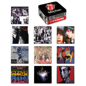 The Rolling Stones 10 piece Album Cover Coaster Set with Tin Storage Box