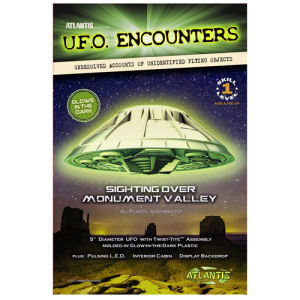 Monument Valley UFO Glow-In-The-Dark 5 Inch Model Kit with Light