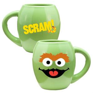 Sesame Street Oscar 18 Ounce Oval Ceramic Mug