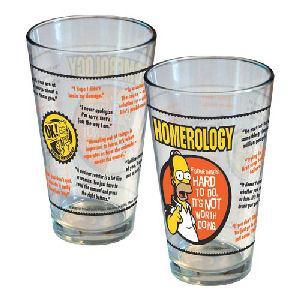 Simpsons Homerology Pint Glass