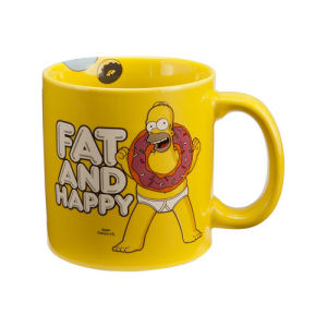 The Simpsons Fat and Happy 20 Ounce Ceramic Mug