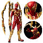 Marvel Comics Iron Spider 1:6 Scale Re:Edit Action Figure. The comic version Iron Spider stands 11 inches tall. Features 3 movable arms and die-cast metal parts.
