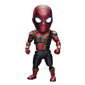 Avengers Infinity War Iron-Spider Deluxe EAA-060DX Figure - Previews Exclusive. Action figure has 25 points of articulation and swappable Peter Parker head. Spidey head has light up eyes..