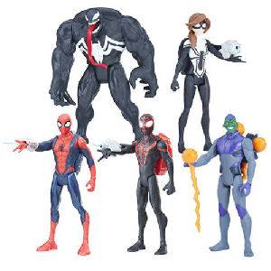 Spider-Man Quick Shot 6 inch Action Figures Wave 2 Case. Case includes 8 individually packaged action figures - 2 QUICK SHOT SPIDER MAN1 - 2 QUICK SHOT VENOM - 2 QUICK SHOT KID ARACHNID - 2 QUICK SHOT SPIDER GIRL -