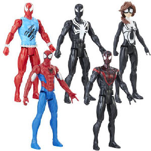 Spider-Man Web Warriors 12-Inch Action Figures Wave 2 Case. Case includes 8 individually packaged action figures:- 1 SCARLET SPIDER - 2 ARMORED SPIDER MAN - 2 BLACK SUIT SPIDER MAN - 1 SPIDER GIRL - 2 KID ARACHNID.