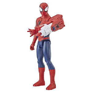 Spider-Man Titan Hero Power FX Action Figure. Connect Titan Hero Power FX arm launcher to compatible Titan Hero Series figures to activate character-specific sounds and phrases.