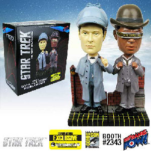 Star Trek The Next Generation Sherlock Holmes Data and La Forge Bobble Heads Set of 2 Convention Exclusive