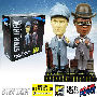 Star Trek The Next Generation Sherlock Holmes Data and La Forge Bobble Heads Set of 2 Convention Exclusive.  Bobble head bases are part London street and part holodeck. Each measures 7 inches tall.