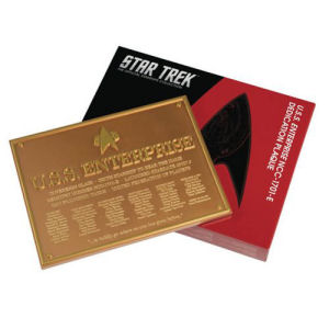 Star Trek U.S.S. Enterprise-E Dedication Plaque #2