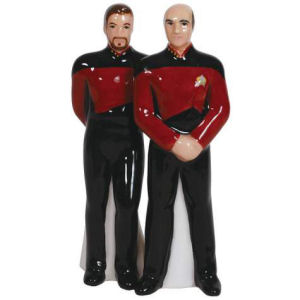 Star Trek The Next Generation Captain Picard and Riker Salt and Pepper Shaker Set