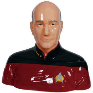 Star Trek The Next Generation Captain Picard Ceramic Cookie Jar