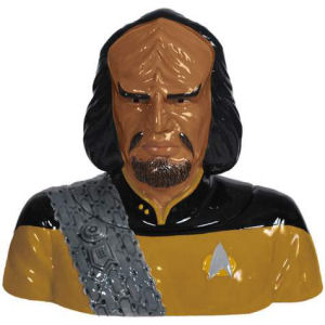 Star Trek Next Generation Worf Ceramic Cookie Jar