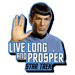 Star Trek Spock Quote Funky Chunky Magnet
