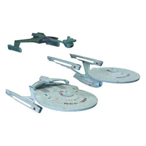 Star Trek Cadet Series 1/2500th Scale Model Kit 3-Pack