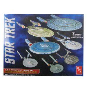 Star Trek U.S.S. Enterprise 1/2500 Scale Snap-Fit Model Kit Set of 7
