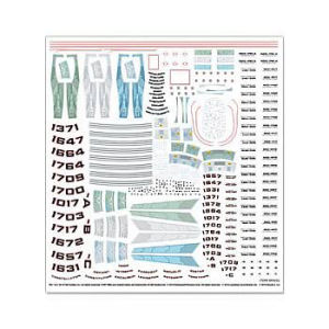 Star Trek USS Enterprise NCC-1701 1/1000th Scale Decal Set