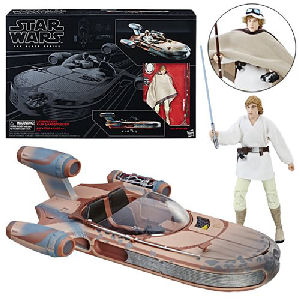 Star Wars The Black Series Luke Skywalkers Landspeeder Vehicle with Luke Skywalker Action Figure