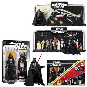 Star Wars The Black Series 40th Anniversary Display Diorama with Darth Vader 6 Inch Action Figure Legacy Pack