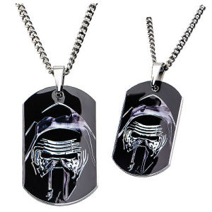 Star Wars Episode VII - The Force Awakens Kylo Stainless Steel Dog Tag Pendant Necklace