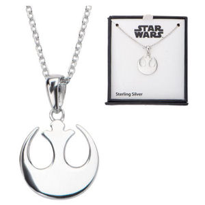Star Wars Rebel Alliance Symbol Sterling Silver Pendant Necklace
