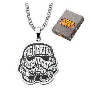 Star Wars Stormtrooper Typography Art Pendant Necklace