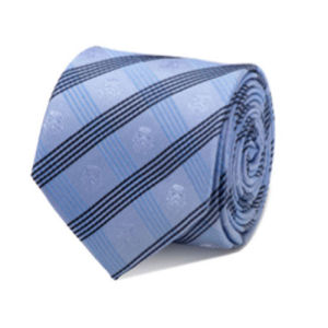 Star Wars Stormtrooper Blue Plaid Italian Silk Tie