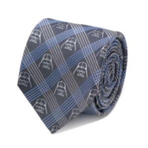 Star Wars Darth Vader Blue Plaid Italian Silk Tie