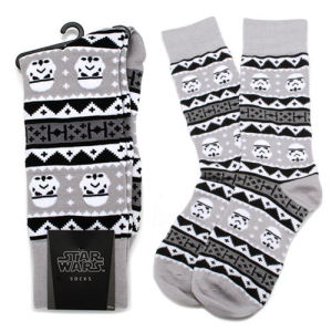 Star Wars Stormtrooper Holiday Edition Tacky Sweater Socks