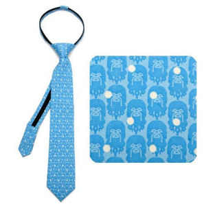 Star Wars Chewbacca Dot Blue Boys Zipper Silk Tie