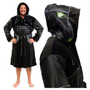 Star Wars Rogue One Death Trooper Hooded Fleece Bathrobe