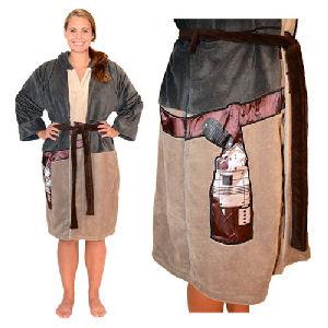 Star Wars Rey Resistance Hooded Fleece Bathrobe