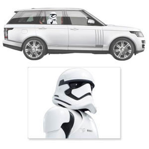 Star Wars The Force Awakens First Order Stormtrooper Window Wrap Passenger Series Car Decal