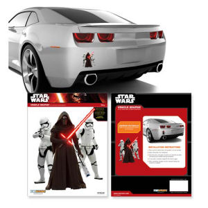 Star Wars Episode VII The Force Awakens Kylo Ren and Stormtroopers Mini Car Decal