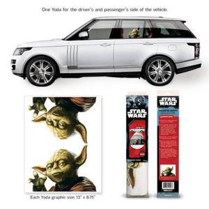 Star Wars Yoda Passenger Series Window Decal 2-Pack