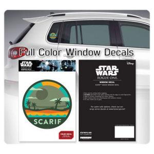 Star Wars Death Star over Scarif Badge Window Decal