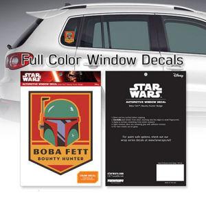 Star Wars Boba Fett Bounty Hunter Badge Window Decal