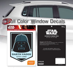 Star Wars Darth Vader Sith Lord Badge Window Decal