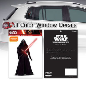 Star Wars Kylo Ren At the Ready Window Decal
