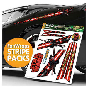 Star Wars Darth Maul Stripe Pack FanWraps Car Decals