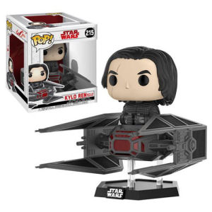 Star Wars The Last Jedi Kylo Ren in TIE Fighter Deluxe Pop! Vinyl Bobble Head #215