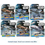 Star Wars Hot Wheels Carships Mix 3 Case. Case contains 12 individually packaged vehicles- 2 Millennium Falcon - 1 Lukes X-Wing - 1 Classic TIE Fighter - 1 TIE Advanced X1 Prototype - 2 Rogue One TIE Striker - 2 Rogue One Rebel U-Wing Fighter - 3 Rogue On