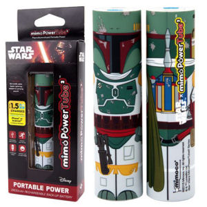 Star Wars Boba Fett Mimopowertube 2 Portable Charger